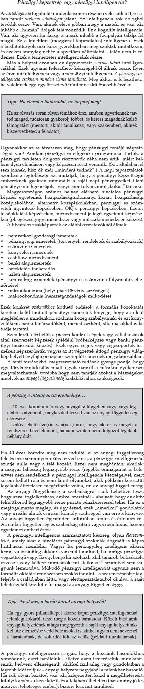 a pénzügyi függetlenség szakaszai)